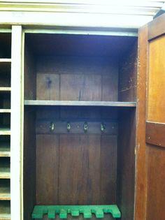 Gorgeous Antique Painted Pine Cabinet/locker/gun Cabinet Circa 19th Century