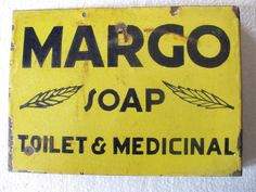 Vintage Margo Medical Soap Porcelain Enamel Sign Board ADV EHS