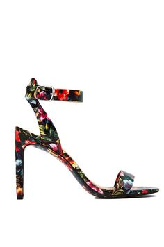 Tropical Floral Patent Heels ==
