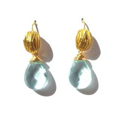 Light Blue Topaz and Vermeil Earrings | Only available at Peyton William. www.peytonwilliam.com