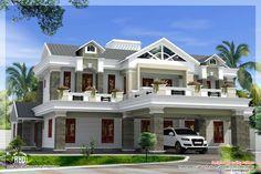 luxury house plans | Box type luxury home design - Kerala home design and floor plans
