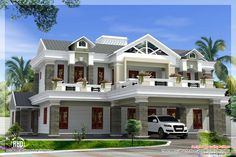 luxury house plans | Box type luxury home design - Kerala home design and floor plans
