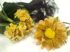 Very Vintage Estate Lot Millinery Hat Supplies Flowers Net Lace Corsage PLUS