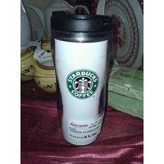 THERMOS DA CAFFÈ TRASPARENTE DELLA STARBUCKS COFFEE A CHIUSURA ERMETICA