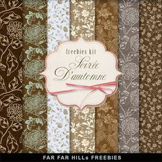 """Far Far Hill - Free database of digital illustrations and papers: New Freebies Kit of Paper - """"Soirée D'automne"""". - Far Far Hill – Free database of digital illustrations and papers: New Freebies Kit of Paper – """"Soirée D'automne"""". Papel Scrapbook, Printable Scrapbook Paper, Printable Paper, Free Printable, Free Digital Scrapbooking, Digital Scrapbook Paper, Digital Papers, Scrapbooking Freebies, Digital Paper Freebie"""