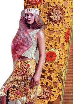 Flower Skirt free crochet graph pattern