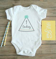 1 Today  1st Birthday Onesie / Onepiece / Bodysuit / Baby