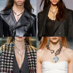 Trendy Jewelry Style for FW 2016: Grunge Chain Necklace. Versace, Polo Ralph Lauren, Isabel Marant, and Fashion East Fall Winter 2016.
