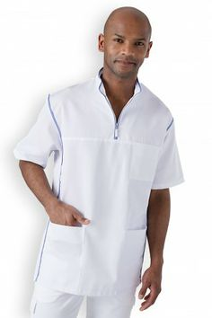 Sarrau tunique médicale Doctors, Blouse, Scrubs, Chef Jackets, Polo Shirt, Women's Fashion, Mens Tops, Shirts, Nurse Scrub Outfits