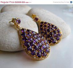 30 Off Sale Purple Amethyst Earrings Amethyst Earrings by Belesas