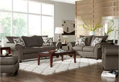 picture of Marymount Gray 7Pc Classic Living Room from Living Room Sets Furniture