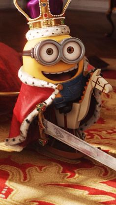 King Bob of the Minions with his horse and sword from the Minion Movie. Minion Rock, Minions Bob, Minions Images, Cute Minions, Minion Movie, Minion Pictures, Minions Despicable Me, Minions Quotes, My Minion