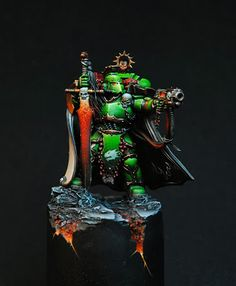40k - Salamanders Space Marine Captain (converted from Dark Vengeance Chaos Lord)