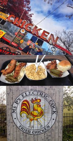 Arguably one of the most photographed food trucks in Austin, Ms. P's Electric Cock packs a punch with their fab Southern-style fried chicken.
