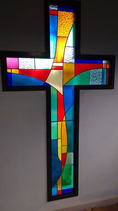 Cross Drawing, Stain Glass Cross, Stained Glass Projects, Amen, Projects To Try, Symbols, Architecture, Drawings, Pattern