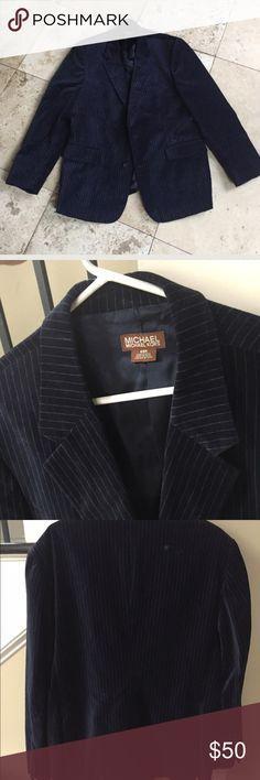 🔖Michael Kors Blazer Navy Blue Velvet Blazer Michael Kors Suits & Blazers Sport Coats & Blazers