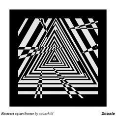 Abstract op art Poster