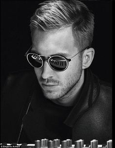 Shirtless Calvin Harris shows off his muscles for Emporio Armani #dailymail