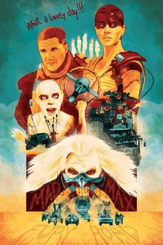 Mad Max: Fury Road & Avengers : Age of Ultron by Marc Lafon - Buy Prints and Stuff (stickers, apparel, tapestry, mugs, pillows, clocks, sheets, towels, device cases, cards, shower curtains, pouches, etc.) HERE and HERE  More Mad Max: Fury Road Related...