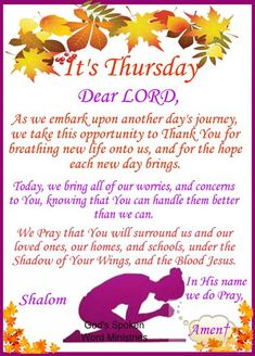 Everyone is Welcome here to get Daily Doses of God's Love, Word and Beauty. Like/Share if you Love Jesus. Good Morning Prayer, Good Morning Happy, Morning Blessings, Morning Prayers, Thursday Greetings, Thankful Thursday, Morning Greetings Quotes, Happy Thursday, Thursday Morning Prayer