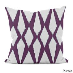 16 x 16 Inch Diamond Print Decorative Throw Pillow | Overstock.com Shopping - The Best Prices on Accent Pieces