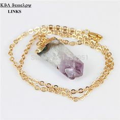 Find More Chain Necklaces Information about 1PC Natural Druzy Amethyst Stone Pendant Necklace,Clear Quartz Stone Pendant Necklace,Fashion Drusy Stone Necklace,High Quality necklace fancy,China stone pendulum Suppliers, Cheap stone from -LINKS on Aliexpress.com