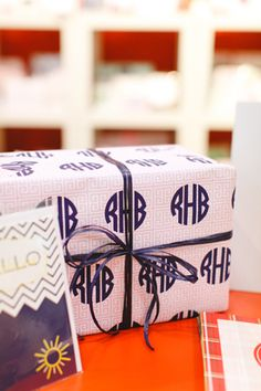 monogram wrapping paper!