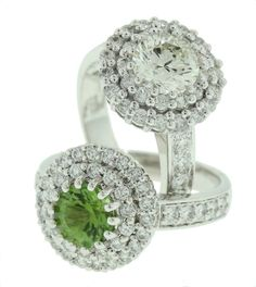 Gorgeous Peridot and Diamond Rings - Brisbane Jeweller - Diamond Jewellery - MONTASH Jewellery Design - www.montash.com.au