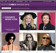Who will win? The Janie's Fund founder will compete against Madonna, Sir Paul McCartney, Prince, and Stevie Wonder for Favourite Music Icon at the People's Choice Award - airing January 6 on CBS