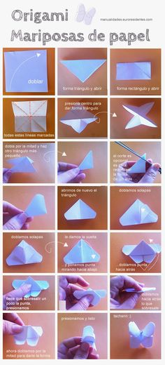 Mariposas de papel. Origami butterfly