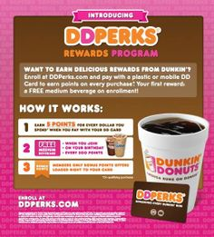 Sign up for DD Perks toDDay and start earning points on qualifying purchases! Click pin to learn more.