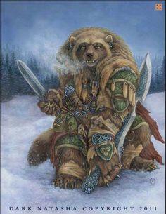 The Art of Dark Natasha - Winter Domain Fantasy Creatures, Mythical Creatures, Fantasy Kunst, Fantasy Art, Wolverine Animal, Bear Art, My Spirit Animal, Native American Art, Fantasy World