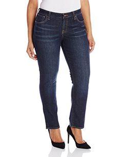 Lucky Brand Women's Plus-Size Ginger Petite Straight Jean In Ol' Stevens