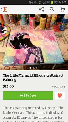 Little mermaid painting