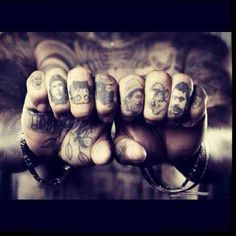 Knuckle tattoo ink