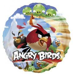 Piękny balon foliowy z postaciami z Angry Birds.