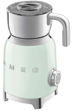 Smeg appliances combine iconic style with innovative technical design and attention to detail. This 50's Retro Style Aesthetic Milk Frother features a powder coated stainless steel body and a polished chrome collar and base. It includes 6 preset functions: Hot Milk with light or thick foam, Cold Milk with light or thick foam, Hot Milk, Hot Chocolate and Manual Function. The transparent Tritan lid doubles as a measuring cup and the includes a removable stainless steel jug. Chocolate Shake, Decadent Chocolate, Retro Toaster, Pink Milk, Milk Frothers, 50 Style, Retro Style, Hand Blender, Specialty Appliances