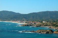 Sarti beaches and town, Sithonia peninsula, Halkidiki,Greece
