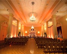 Elegant, soft uplighting at the Biltmore by GrooveEvents.us