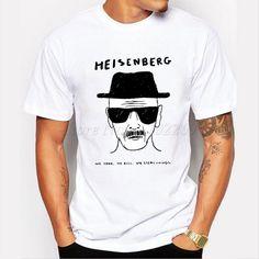 34413bea574 2016 Men s Fashion Breaking Bad T Shirt Heisenberg Printed shirt Walt White  Short Sleeve Tee Hipster Hot Sale Tops