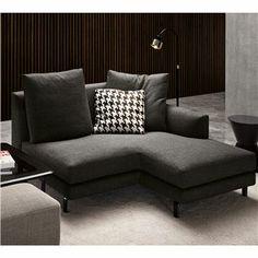 Minotti rodolfo dordoni bank powell furnishing for Chaise longue bank