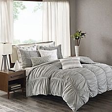 image of INK+IVY Reese Duvet Cover Set