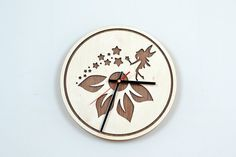 12'' Wooden Wall Clock / Home Decor / Housewares / by JVKWOODWORK, $36.50