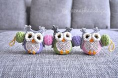 Crochet baby buggy owls mobile FREE SHIPING. kr450.00, via Etsy.