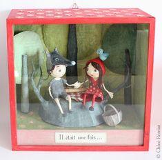 """""""Loup & Chaperon Rouge"""" - Photo de BOITES ET CADRES DISPONIBLES * Available boxes and frames - Tibout de blog"""