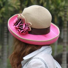 Ms flat-topped beach hat sun hat straw hat sun hat