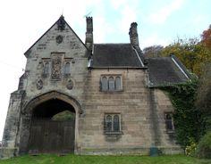Gate House for Alton Castle, the original Alton Towers, Alton, Derbyshire, England