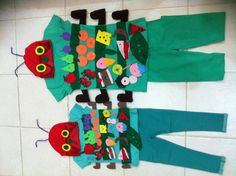 The hungry caterpillar costumes.