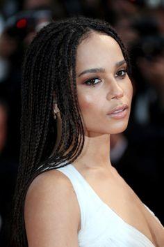 Zoe Kravitz (daughter of Lisa Bonet and Lenny Kravitz) Cannes Box Braids Hairstyles, 2015 Hairstyles, Lisa Bonet, Zoe Isabella Kravitz, Beauty Trends, Vanity Fair, Hard Rock, Pretty People, Afro
