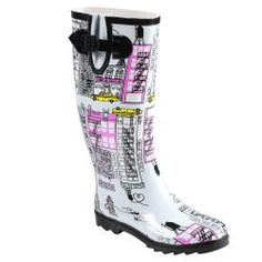 Hailey Jeans Co Women's 'Graphics' Print Rainboots | Overstock.com Shopping - Great Deals on Hailey Jeans Co Boots